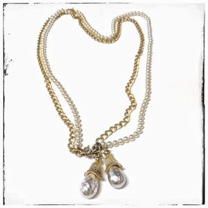 Vintage Sarah Coventry Chain, Pearls + Tassels